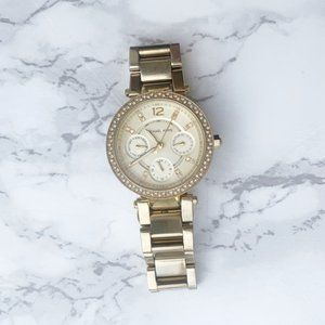 Michael Kors Parker Gold Stainless Steel Watch